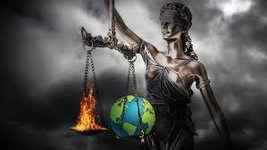 justice weighing planet and fire