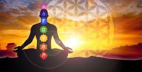 Chakras and flower of life