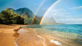 double rainbow hawaii