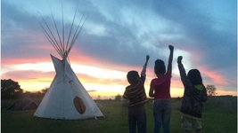 kids at standing rock